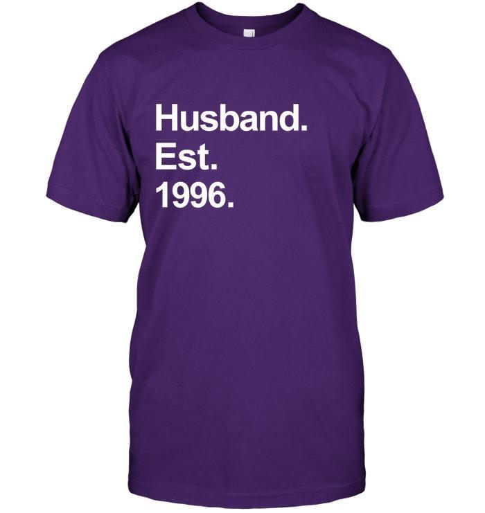 22nd Wedding Anniversary Gift Ideas: Mens 22nd Wedding Anniversary Gifts Husband Est 1996 Shirt