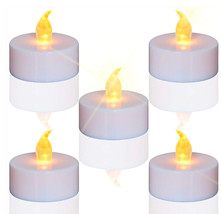 24 Tea Lights Flameless Candles Centerpieces Wedding LED Lights Reusable... - $14.99