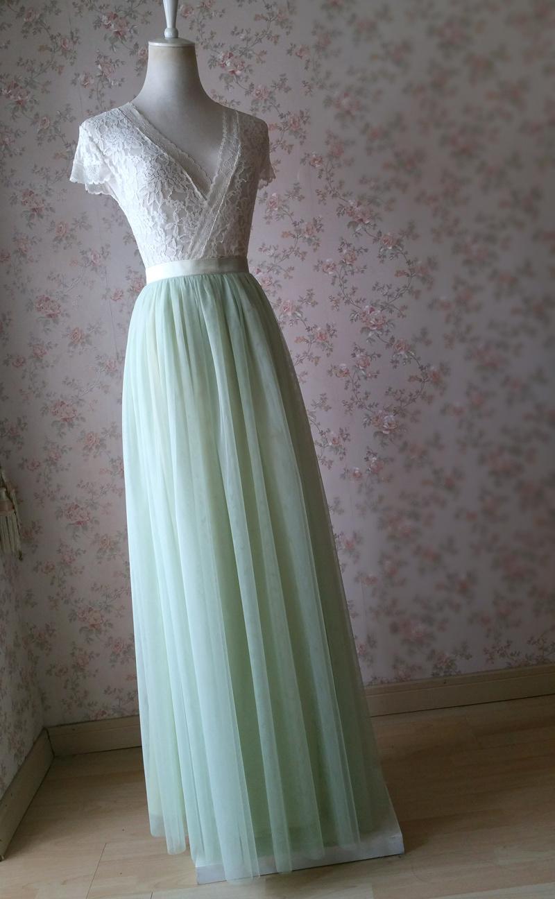 Light green tulle skirt 6