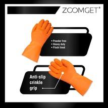 Zoomget Orange Latex Full-Dipped High-Crinkle Work Gloves (Bag of 12 pairs) - $44.99