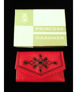 Vintage Princess Gardner Red Leather Key Case Holder With Box And Papers... - $15.00