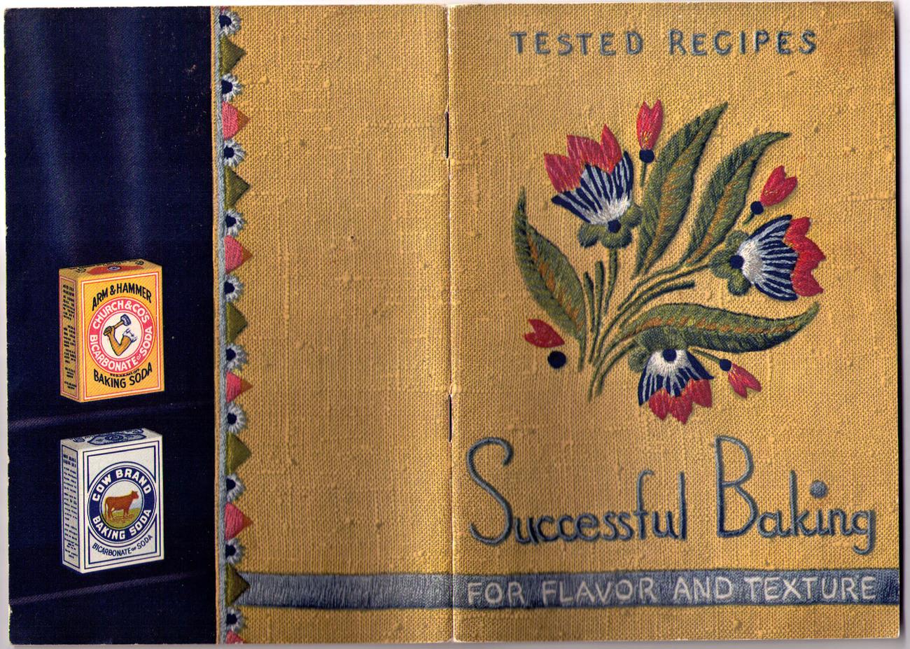 "Baking Soda ""Successful Baking"" Booklet - 1937 SC"