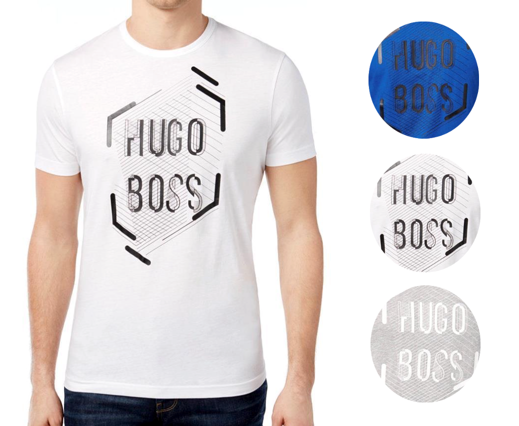 New Hugo Boss Men's Premium Designer Graphic Cotton Shirt T-Shirt 50312850
