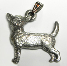 Chihuahua (smooth coat) Pendant Dog Harris Fine Pewter Made in USA jewelry - $10.99