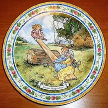 "Vintage 1986 Royal Doulton Nursery Rhyme Plate ""SEE-SAW"" Margery Daw - $12.00"