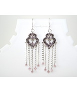 Purple chandelier earring - $13.99