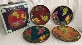 Certified International VINEYARD Set of 4 Dinner Plates Susan Winget NIB... - $79.19