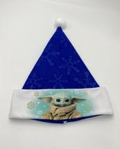 Mandalorian Baby Yoda Star Wars Santa Hat blue white  new without tags - $9.89