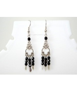 Black chandelier earring - $13.99