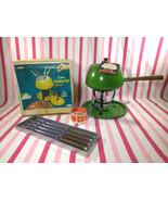 NEW Old Stock MoD Avocado Fondue Pot Set  • Stand • Burner •Sterno Can •... - £22.43 GBP
