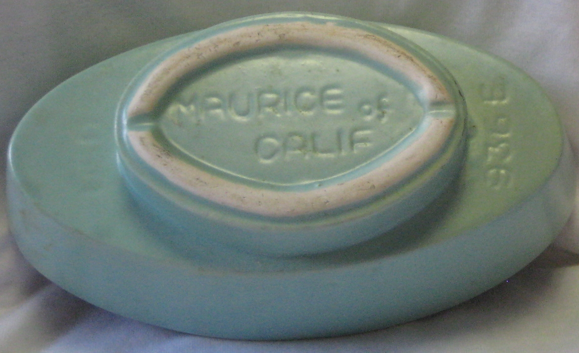 Maurice of California USA Pottery Planter Mint Green Color