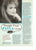 Paula Abdul teen magazine pinup clipping straight from Paula lips