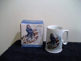 NORMAN ROCKWELL PORCELAIN TANKARD FROM LONG JOHN SILVERS, new in box - $3.95
