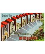 HANNIBAL Missouri - 1950's Large Letter POSTCARD - $9.00