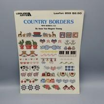 Leisure Arts Country Borders Mini Series #22 Leaflet 859 VTG  1989 Cross Stitch - $4.94