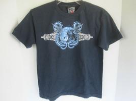 Boys Top Heavy Dark Blue Graphic T-Shirt Size M - $6.79