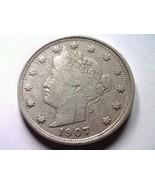 1907 LIBERTY NICKEL VERY FINE / EXTRA FINE VF/XF NICE ORIGINAL COIN VF/EF - $421,98 MXN
