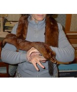 Three Tanned Full Mink Pelts Fur Collar Wrap Stole  - $39.95