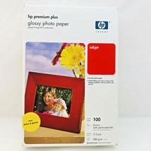 Genuine HP Q5431A Premium Plus Inkjet Photo Paper Glossy 4x6 100 sheets New  - $7.91