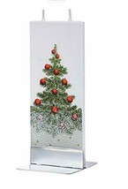 Flatyz Handmade Twin Wick Unscented Thin Flat Candle - Christmas Tree - $19.99