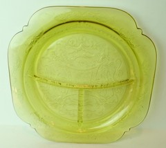 Madrid Golden Glow Grill Dinner Plate Federal Depression Glass 1933 - $23.27