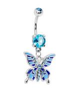 31617 light blue sparkler gem butterfly drop belly ring thumbtall