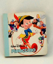 "Walt Disney's Pinocchio 1986 Mini Book 3.5"" X 3.5"" Chamtham River Press ... - $9.46"