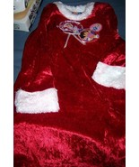 Dora Explorer Christmas Nightgown & Robe NEW Sleepwear Faux Fur Red Whit... - $20.00