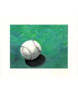 "Ball - White - Acrylic on Canvas Board (Prints 10"" X 8"") - $35.00"