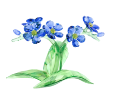 SWAROVSKI FORGET ME NOT 5374947 CRYSTAL FLOWER FIGURINE - $434.60
