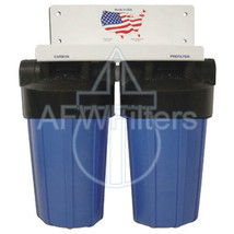 10-inch 2 Stage Big Blue Whole House Filter with KDF-55 for Metals, Chlorine - $211.51