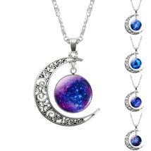 FAMSHIN 2018 New Hot Fashion Jewelry Choker Necklace Glass Galaxy Lovely... - $2.99
