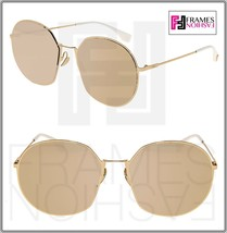 FENDI EYELINE FF0313FS Pale Gold Silver Mirrored Flat Metal 0313 Sunglasses - $212.85