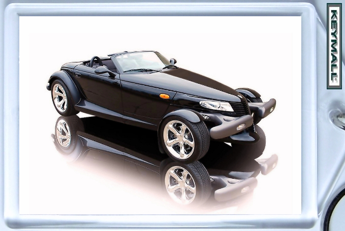 KEYTAG BLACK CHRYSLER/PLYMOUTH PROWLER KEY CHAIN RING
