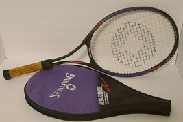 """Spalding Aero Smasher Tennis Racket 4 3/8"""" With Cover Great Condition - $24.07"""