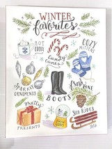Winter Favorites Whimsical Colorful Holiday Season Canvas Art by Lily & ... - $29.68
