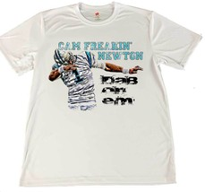 Cam Newton Carolina Panthers Dab On Em Dry Wicking T-Shirt w Flag Coaster - £10.76 GBP+