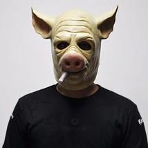 Cigar Hog Mask Game H1Z1: Kill of the King Cosplay Full Head Latex Pig M... - $34.55 CAD