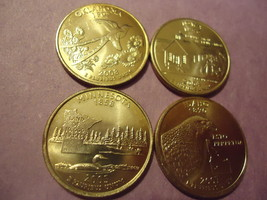 LOT OF 4 US TONED STATE QUARTERS (DIFFERENT STATES)  COMBINED SHIPPING  - $4.00