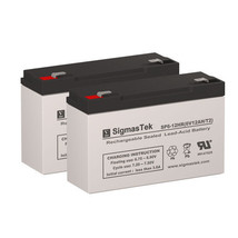 LightAlarms SG12E4 Replacement Battery by SigmasTek (Set of 2) - $30.64