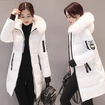 Women's Hooded Long Down Jacket Winter Warm Parkas Fur Coats