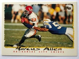 1995 Topps #121 Marcus Allen Kansas City Chiefs NFL Football Card - $0.99