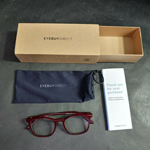 EyeBuyDirect Eyeglass Frames ONLY w/ Pouch, Phoenix, 51-19-145 - $24.16