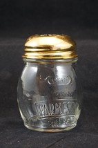 Vintage Kraft Parmesan Cheese Shaker - Glass with Gold Colored Lid - $9.74