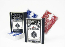 Bicycle Prestige Plastic Poker Size Playing Cards BRAND NEW 1 Deck Red or Blue - $10.75