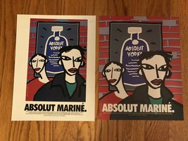 Absolut Marine. With Or Without Border Original Magazine Ad - $3.99