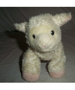 "Aurora sheep lamb cream pink small bean bag plush stuffed animal 8"" - $37.39"