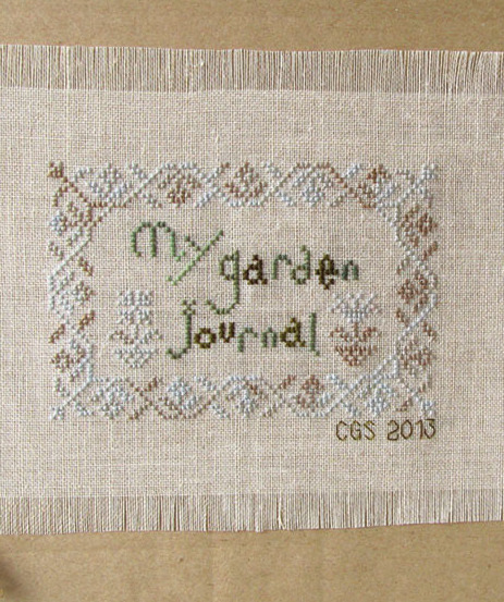 Mays Lily of the Valley My Garden Journal cross stitch