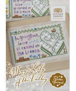 May's Lily of the Valley My Garden Journal cross stitch Cottage Garden S... - $6.75