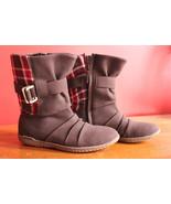 NEW! Patagonia Kula Buckle Performance Espresso Red Plaid Boots 6.5 37.5... - $53.40